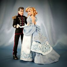 DISNEY FAIRYTALE DESIGNER CINDERELLA & PRINCE COUPLE DOLLS LIMITED **IN HAND**