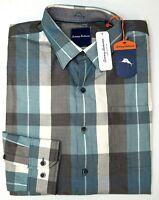 NWT $145 Tommy Bahama Green Plaid Cotton Blend LS Shirt Mens Size S L XXL NEW