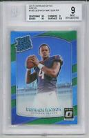 DESHAUN WATSON 2017 Donruss Optic Rated Rookie GREEN Refractor RC 1/5 BGS 9 Mint