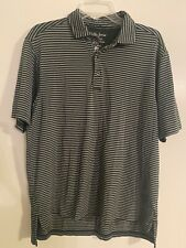 New listing Bobby Jones X-H20 Polyester Blend Performance Striped Breathable Golf Polo L