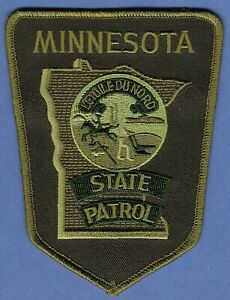 MINNESOTA STATE PATROL TACTICAL POLICE SHOULDER PATCH