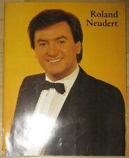 Roland Neudert Set Tourneeprogramm Rosen für unsere Frauen 1985 Autogrammkarte