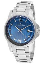 Lucien Piccard Breithorn Switzerland Movement Stainless Steel Blue Textured Dial