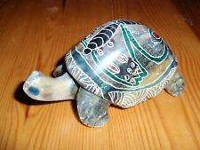 Stone Small Figurine of a Turtle, Tortoise Ornament, Indoor-Outdoor, Handmade