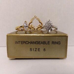 Vintage 1999 Interchangeable Ring Set - Size 6