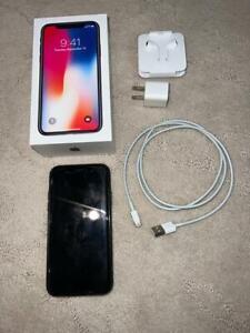 Used Apple iPhone X 256GB AT&T Verizon T-Mobile GSM CDMA UNLOCKED