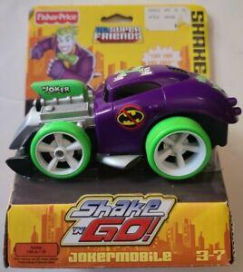DC Super Friends Fisher Price Shake n Go Jokermobile Roadster NIP 2008 Mattel