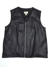 Black Leather Vest Nordstrom Womens M