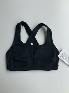 BNWT Lululemon Fast Times Bra UK6 UK10 luxtreme adjustable black RRP£62