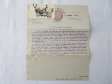 1910 Commerical Vehicle Motorcycle Company Letter Letterhead Rex Tricar Carrier