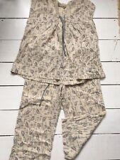 Toast Pyjamas Linen/cotton Size 10 Excellent Condition