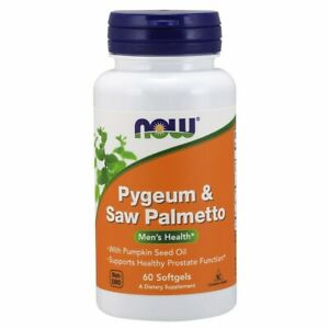 Pygeum & Saw Palmetto Extract 60 Sgels 25 mg/80 mg