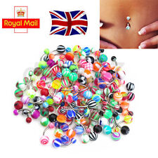 50/100pcs Belly Button Navel Ring Bars Stain Steel Body Piercing Jewellery UK