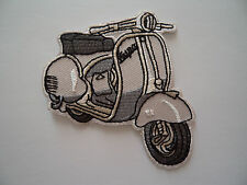 Vespa Scooter Cloth Patch Iron / Sew On Mod Mechanic Overalls Parka Patches @o