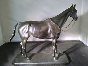 Antique French Bronze Sculpture of a Horse. c. 1925 - Signed Minvielle, Nice!!