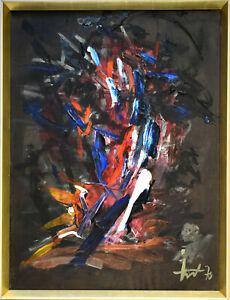 Albert Fürst: Informelle Komposition. [19]82. Signiertes Original-Gemälde.