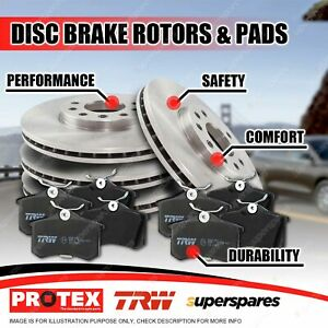 Full Set Front + Rear Disc Rotors Brake Pads for Mini Cooper S F55 F56 2.0L