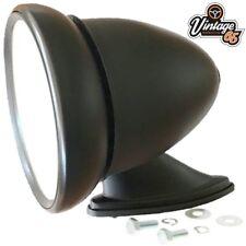 Classic Car Racing Bullet Style S/Black Adjustable Flat Glass Wing Door Mirror