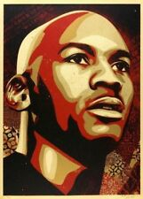 MICHAEL JORDAN HALL OF FAME PORTRAIT : LARGE FORMAT : OBEY : SHEPARD FAIREY