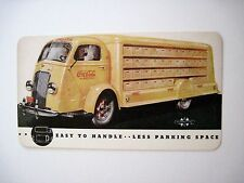 Vintage Postcard w/ Coca-Cola Truck Advertising Int'l Harvester Co. *