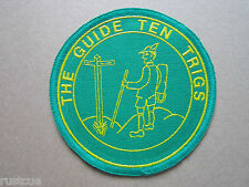 The Guide Ten Trigs Walking Hiking Cloth Patch Badge
