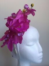 Gorgeous magenta orchid fascinator on cream headband!