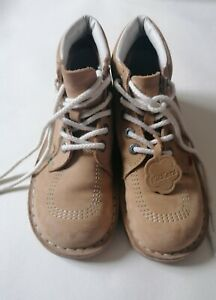 Kickers Boots Tan Brown Lace Up Ankle Boots Leather UK Size 5 EU 38