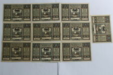 GERMANY NEUSALZ DIFFERENT LETTERS A-H, J & L  10 BANKNOTES B19 #871