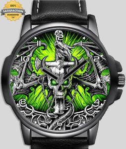 Dragon Skull Sword Unique Stylish Wrist Watch