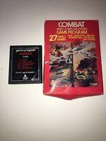 Atari  2600  Combat Original 1977 Gatefold Version CX 2601  With Box