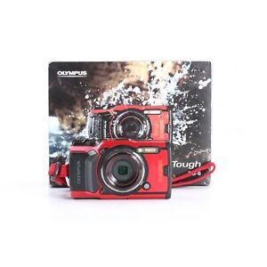 Olympus Tough TG-6 Digital Camera Red + Defective (233531)