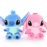 Stitch Lot 2 Peluches Stitch Angel 20 Cm Doux Et Agreable Au Toucher
