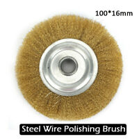 Stainless Steel 100mm Wire Brush Wheel For Metal Derusting Polishing Power Tool