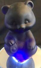 FENTON Glass Sitting Bear - Satin Dark Cobalt Blue - (K1)