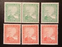 GERMANY 1925, RHINELAND/RHEINLAND, 3 SHORT SETS, MNH, FREE SHIPPING!!!