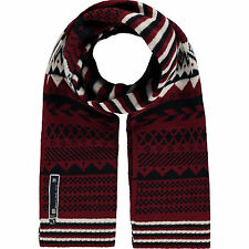 DIESEL FAIRISLE SCARF MAROON, NAVY & WINTER WHITE BNWT RETAIL £75