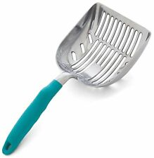 DuraScoop Jumbo Cat Litter Scoop, All Metal End-to-End with Solid Core, Sifter