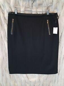 Calvin Klein Women's Straight Fit  Skirt Black Size 14 NEW✨💕