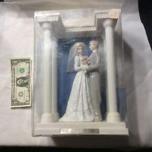 2003 Porcelain Wedding Couple & Columned Gazebo-Wilton Industries - NIB