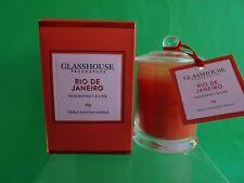GLASSHOUSE CANDLE RIO DE JANEIRO PASSIONFRUIT & LIME 60g NEW