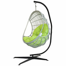 More details for large heavy duty c-stand hanging swing egg chair hammock frame w/ x base 150kg
