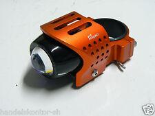 1 Magazi Gabel Nebelscheinwerfer Zusatz-Scheinwerfer orange rund für 52mm Gabel