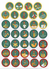 SCOUTS OF MALAYSIA - Boy & Girl Scout Proficiency Patch (Merit Badge) SET OF 34