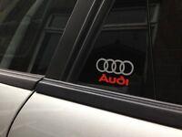 4 x Audi Logo Door Sticker - decal vinyl a1 a2 a3 a4 a5 a6 a8 q5 q7 50mm