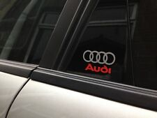 4 x Audi Logo Door Sticker - decal vinyl a1 a2 a3 a4 a5 a6 a8 q5 q7 50mm