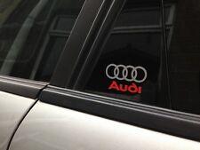 4 x audi logo porte autocollant-autocollant vinyle a1 a2 a3 a4 a5 a6 a8 q5 q7 50mm