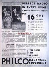 1932 PHILCO 'Baby Grand & Compact' Superhet Radios Advert - Art Deco Print Ad