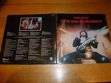 THIN LIZZY - Live And Dangerous - Classic 1978 UK 17-track double live LP