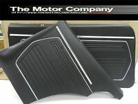 1969 Camaro Door Panels Pre Assembled Front & Rear Black Like PUI PD220 & PD220C