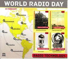 Micronesia 2013 MNH UNESCO WORLD RADIO giorno 4V M / S BRANT ROCK Torre Technology